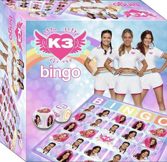K3 - Spel - Bingo - dromen - 6 spelborden - 60 rond kaartjes - 2 dobbelstenen - 2 tot 6 spelers
