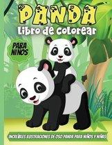 Panda Libro De Colorear Para Ninos