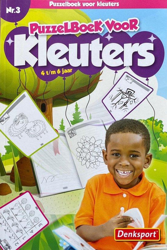 Afbeelding van Denksport | Nr.5 Puzzelboek voor kleuters 4-6 jaar |NR.3| Denksport junior | Puzzelboek | Kleurboek | Tekenen | Stiften | Puzzels kinderen | Puzzelboek kinderen | Puzzel | Puzzelboekje | Denksport puzzelboekjes | Puzzel kinderen 4 jaar