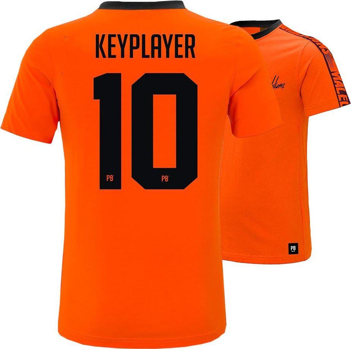 PB x Malelions - 10. Keyplayer   Maat S   Oranje T-shirt   EK voetbal 2021   Heren en dames