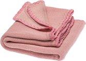 Disana wollen baby zomerdeken - natuurlijk roze