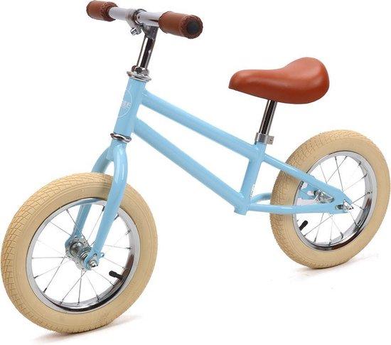 Sjoef Loopfiets | 12 inch Kinderfiets | Zadel en Stuur verstelbaar | Kinderen vanaf 3 jaar - Blauw
