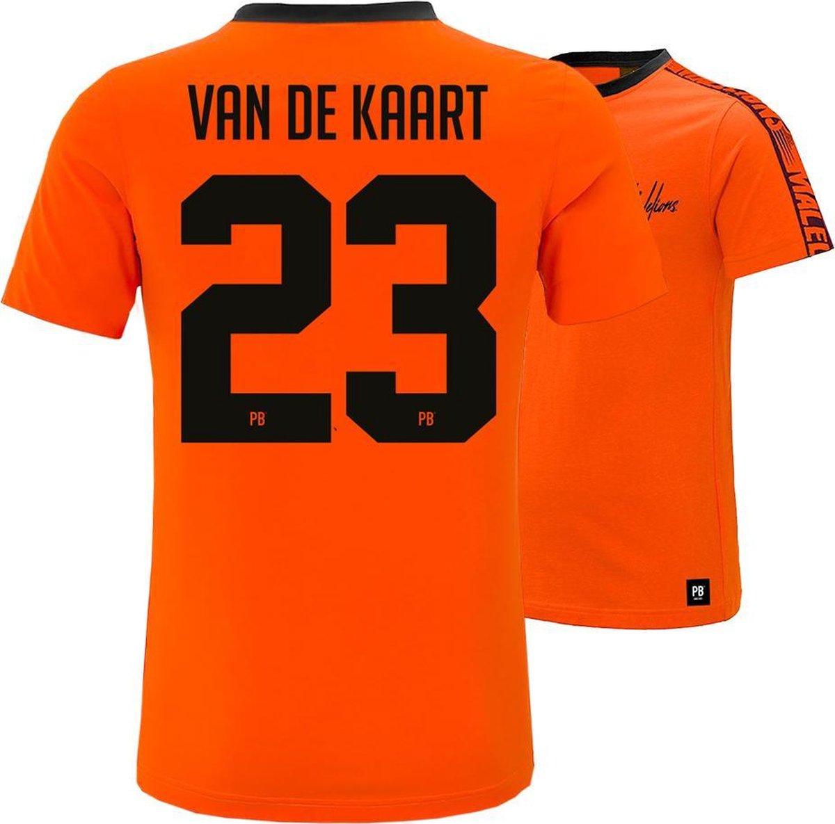PB x Malelions - 23. Van de Kaart   Maat M   Oranje T-shirt   EK voetbal 2021   Heren en dames