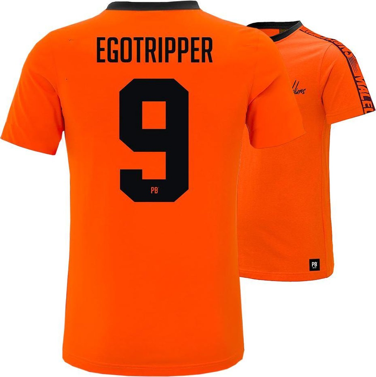 PB x Malelions - 9. Egotripper   Maat S   Oranje T-shirt   EK voetbal 2021   Heren en dames