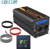Edecoa 12V-230V Zuivere Sinus Omvormer - 2500W/5000W + controller