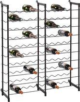 Flessenrek staal voor 100 flessen