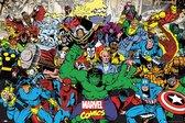 Marvel poster superheroes comics collage Hulk-Spider-man-Iron Man 61x91.5cm.