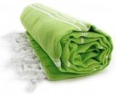 *!!* The One Towelling Hamamdoek Lime/Wit
