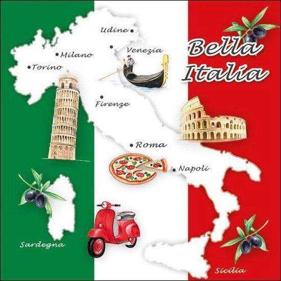 Bol Com 20x Italie Landen Vlag Thema Servetten 33 X 33 Cm Italiaanse Vlag Steden Laars