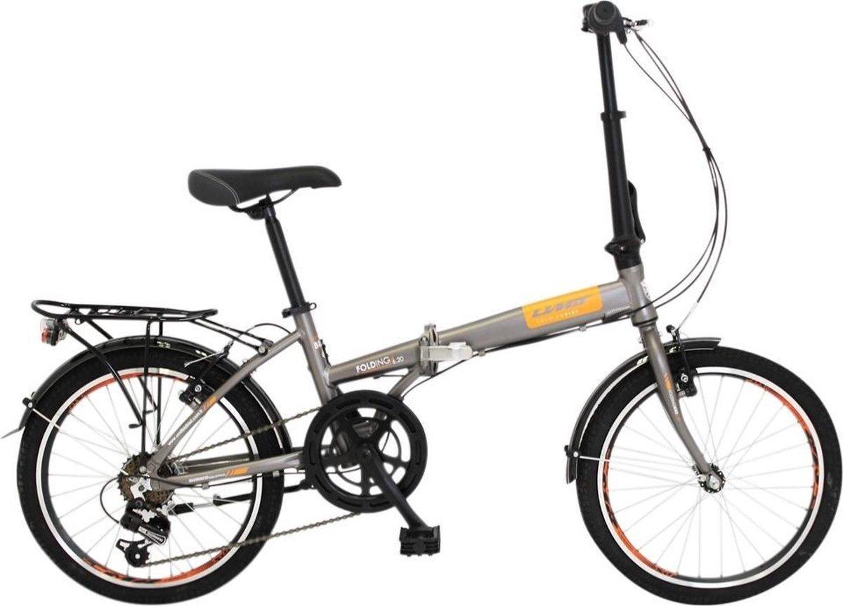 Altec 20 inch Vouwfiets Aluminium 6V Grijs/Oranje online kopen