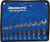 Silverline 10-delige Stubby steeksleutel set 10 - 19 mm