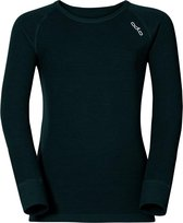 Odlo Bl Top Crew Neck L/S Active Warm Kinderen Thermoshirt - Black - Maat 164