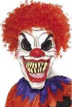 Halloween Eng clown masker met haar