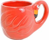 Blond Amsterdam Paradise Flamingo Mok - Rood - 350 ml