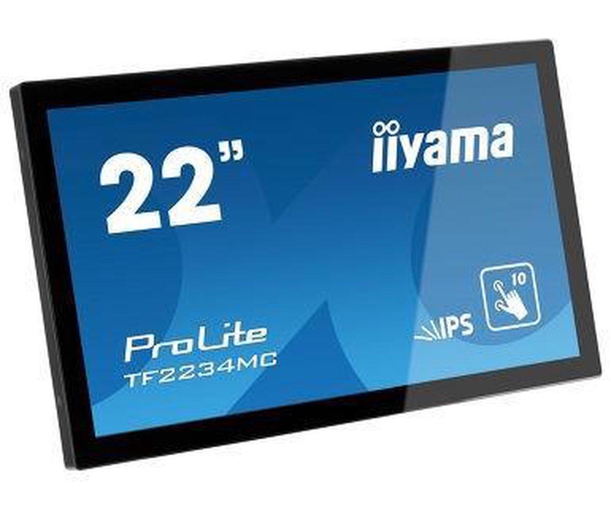 iiyama ProLite TF2234MC 54,6 cm (21.5) 1920 x 1080 Pixels Zwart Multi-touch Multi-gebruiker