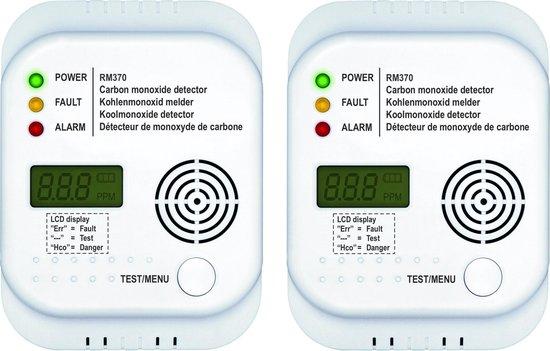 Smartwares RM370/2 - Koolmonoxidemelder - 7 jarige sensor - Met display - Duopack