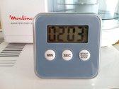 Premium blauw Magnetische Kookwekker Inclusief Standaard + Gratis Batterij | Digitale Kook Wekker blauw | Magnetische Achterkant