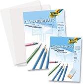 Transparant papier overtrekpapier Folia A4 blok á 25vel