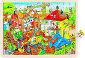 Goki Puzzel: op de bouwwerf 96-delig