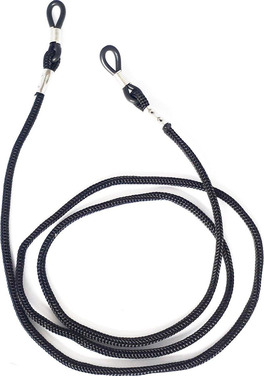 2 stuks Trendy Zonnebrilkoord Zwart   Verstelbaar Lichtgewicht Brillenkoord Zwart Briltouwtje Bril