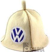 "saunamuts ""Automotive"" met logo VW geborduurd polyester vilt A-231"