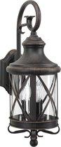 KS Verlichting Wandlamp 'Romantica' bruin