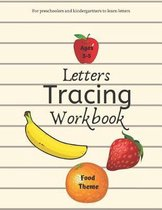 Letters Tracing Workbook Food Theme