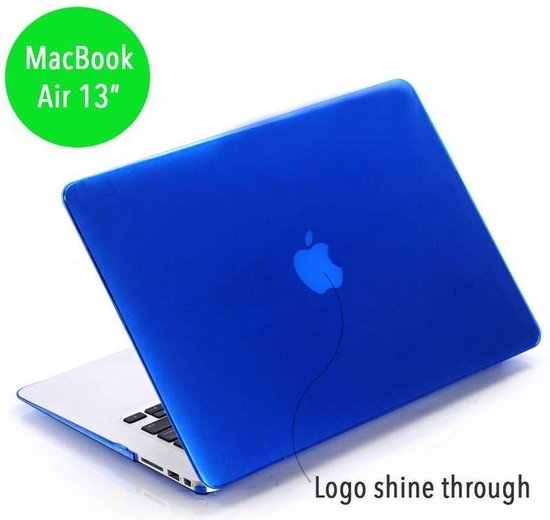 Lunso - hardcase hoes - MacBook Air 13 inch (2010-2017) - glanzend blauw