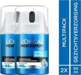 L'Oréal Paris Men Expert Hydra Power Crème  2 x 50 ml - Voordeelverpakking