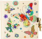 GOLDBUCH GOL-44410 TURNOWSKY dagboek MOSAIC BUTTERFLY BEIGE met slot