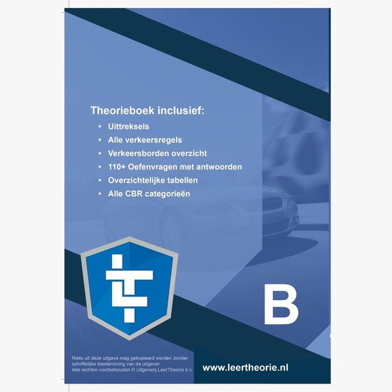 Auto Theorieboek - Auto Theorie Leren Rijbewijs B + CD-ROM incl.