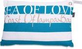 In The Mood Sea Of Love - Sierkussen - 30x45 cm - Aqua