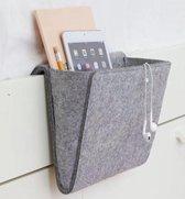 Vilten Opbergzak voor Bed & Bank - Nachtkastje voor Ipad & Tijdschriften- slaapkamer accessoire