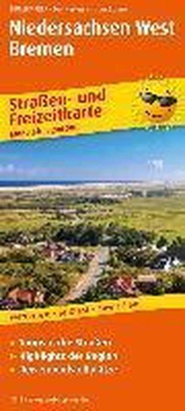 Niedersachsen-West, Bremen. Straßen- und Freizeitkarte 1 : 200 000