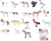 12x Boerderij speelgoed diertjes/dieren - 2-6 cm - kleine speelfiguren voor kinderen
