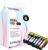 Inktdag inktcartridges voor Epson 33XL multipack,