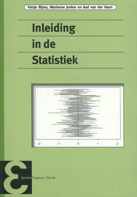 Inleiding in de statistiek - Fetsje Bijma |