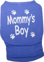 Nobby t-shirt mommy's boy - blauw - 35 cm