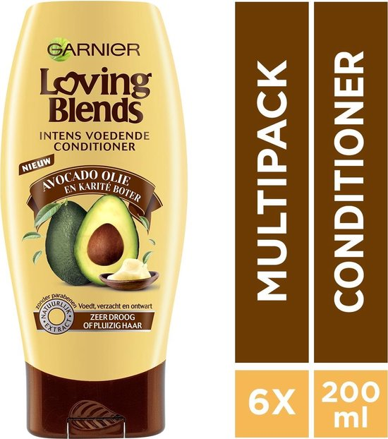 Garnier Loving Blends Avocado Karité - Voordeelverpakking 6 x 200 ml - Conditioner - Garnier