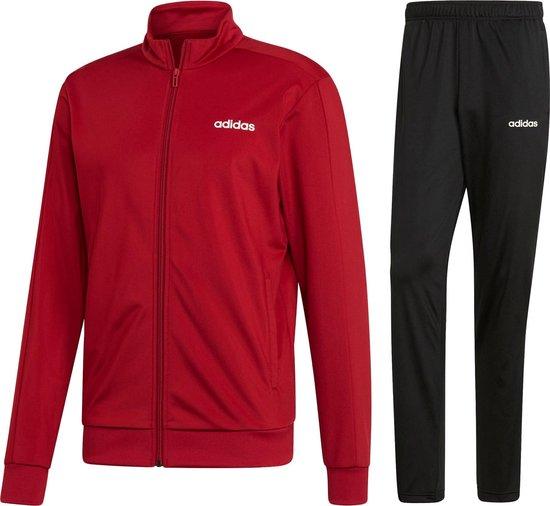 adidas MTS Basics Trainingspak - Maat S - Mannen - rood/zwart