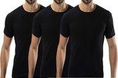 3 stuks Bonanza Basic T-shirt - O-neck - 100% katoen - Zwart - Maat L