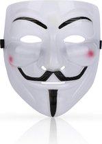 Face Mask Anonymous - Stevig - Wit - Hacker - Verkleden - Masker - Gezichtsmasker - Festival