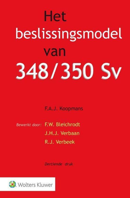 Boek cover Het beslissingsmodel van 348/350 Sv van F.A.J. Koopmans (Paperback)
