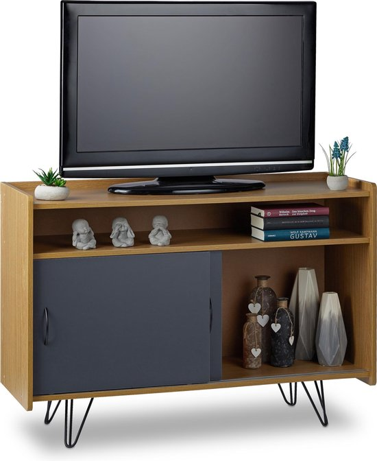 Tv Meubel Dressoir Kast.Bol Com Relaxdays Tv Meubel Vintage Retro Tv Kast Dressoir