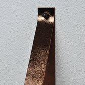 Leren plankdragers Metallic Brons