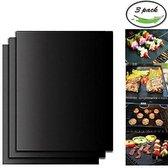 BÖR - 3 BBQ matjes - grillmat teflon antikleef grill ovenbeschermer barbecue herbruikbaar matten