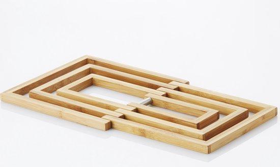 Point-Virgule Onderzetter - Bamboe - Panonderzetter - Uitklapbaar