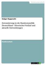 Zuwanderung in die Bundesrepublik Deutschland - Hisorischer Verlauf und aktuelle Entwicklungen