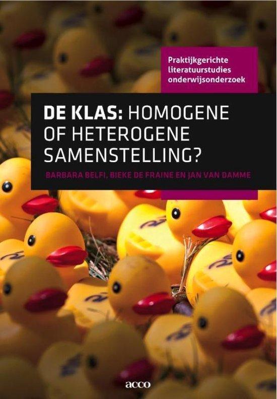 De klas: homogene of heterogene samenstelling - Barbara Belfi pdf epub