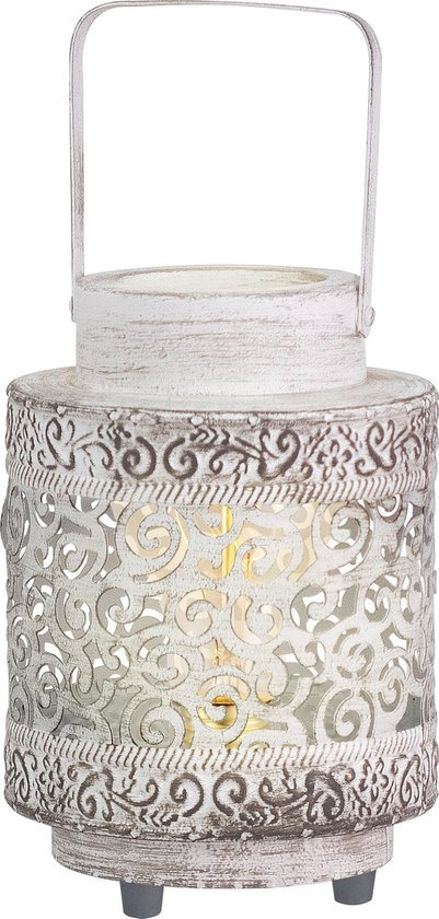 EGLO Vintage Talbot Tafellamp 1 Lichts Wit Patina Zwart